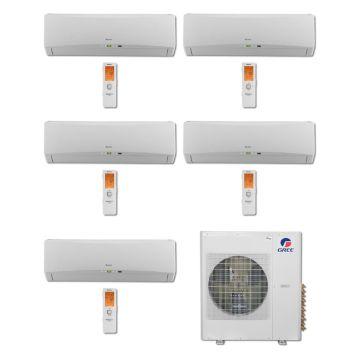 Gree MULTI36BTERRA500 -36,000 BTU Multi21 Penta-Zone Wall Mounted Mini Split Air Conditioner with Heat Pump 220V (9-9-9-9-9)