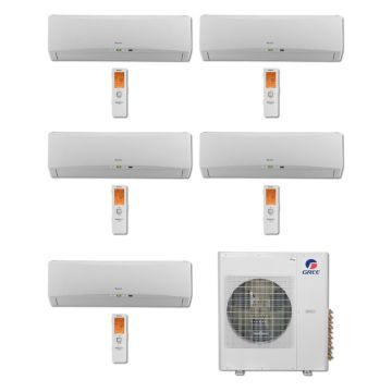Gree MULTI36BTERRA501-36,000 BTU Multi21 Penta-Zone Wall Mounted Mini Split Air Conditioner with Heat Pump 220V (9-9-9-9-12)