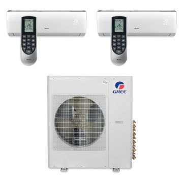 Gree MULTI36BVIR200 - 36,000 BTU Multi21 Dual-Zone Wall Mount Mini Split Air Conditioner Heat Pump 208-230V (9-9)