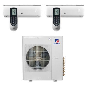 Gree MULTI36BVIR202 - 36,000 BTU Multi21 Dual-Zone Wall Mount Mini Split Air Conditioner Heat Pump 208-230V (9-18)