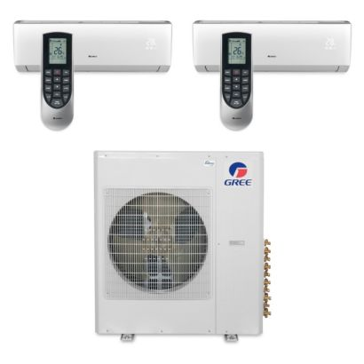 Gree MULTI36BVIR204 - 36,000 BTU Multi21 Dual-Zone Wall Mount Mini Split Air Conditioner Heat Pump 208-230V (12-12)