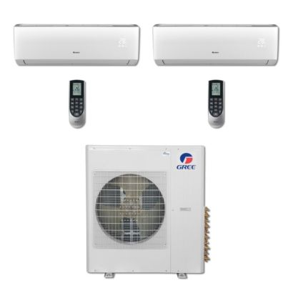 Gree MULTI36BVIR205 - 36,000 BTU Multi21 Dual-Zone Wall Mount Mini Split Air Conditioner Heat Pump 208-230V (12-18)
