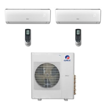 Gree MULTI36BVIR206 - 36,000 BTU Multi21 Dual-Zone Wall Mount Mini Split Air Conditioner Heat Pump 208-230V (12-24)