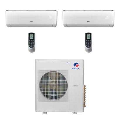 Gree MULTI36BVIR207 - 36,000 BTU Multi21 Dual-Zone Wall Mount Mini Split Air Conditioner Heat Pump 208-230V (18-18)