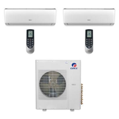 Gree MULTI36BVIR209 - 36,000 BTU Multi21 Dual-Zone Wall Mount Mini Split Air Conditioner Heat Pump 208-230V (24-24)