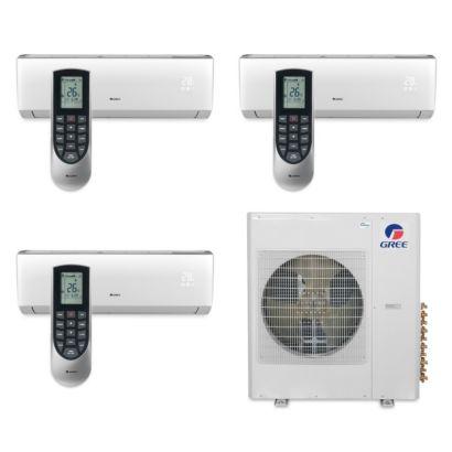 Gree MULTI36BVIR300 - 36,000 BTU Multi21 Tri-Zone Wall Mount Mini Split Air Conditioner Heat Pump 208-230V (9-9-9)