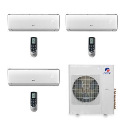 Gree MULTI36BVIR302 - 36,000 BTU Multi21 Tri-Zone Wall Mount Mini Split Air Conditioner Heat Pump 208-230V (9-9-18)