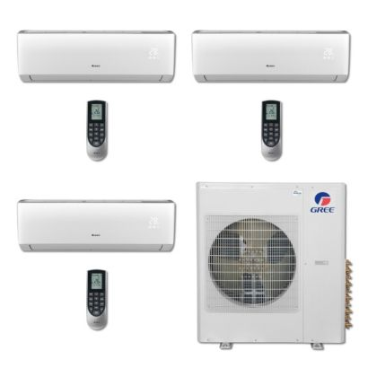 Gree MULTI36BVIR306 - 36,000 BTU Multi21 Tri-Zone Wall Mount Mini Split Air Conditioner Heat Pump 208-230V (9-12-24)