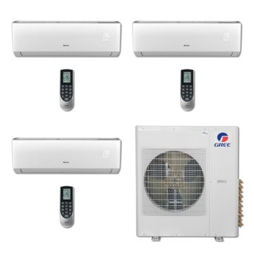 Gree MULTI36BVIR308 - 36,000 BTU Multi21 Tri-Zone Wall Mounted Mini Split Air Conditioner with Heat Pump 220V (12-12-12)