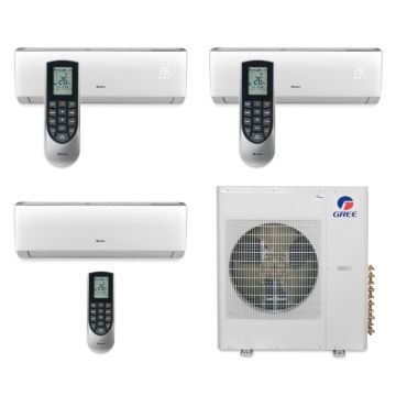 Gree MULTI36BVIR310 - 36,000 BTU Multi21 Tri-Zone Wall Mounted Mini Split Air Conditioner with Heat Pump 220V (12-12-24)