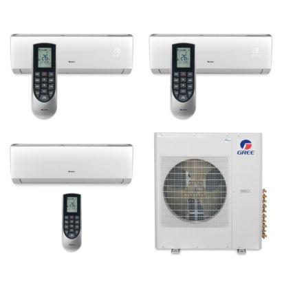Gree MULTI36BVIR310 - 36,000 BTU Multi21 Tri-Zone Wall Mount Mini Split Air Conditioner Heat Pump 208-230V (12-12-24)