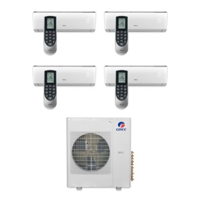 Gree MULTI36BVIR405 - 36,000 BTU Multi21 Quad-Zone Wall Mount Mini Split Air Conditioner Heat Pump 208-230V (9-12-12-12)