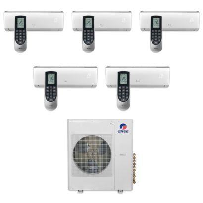 36,000 BTU Multi21 Penta-Zone Wall Mount Ductless Mini Split Air Conditioner Heat Pump 208-230V(9-9-9-9-12)
