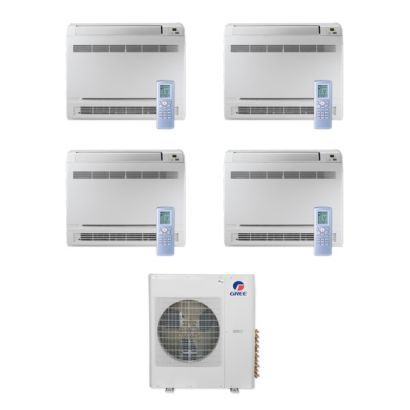 Gree MULTI36CCONS400 - 36,000 BTU Multi21+ Quad-Zone Floor Console Mini Split Air Conditioner Heat Pump 208-230V (9-9-9-9)