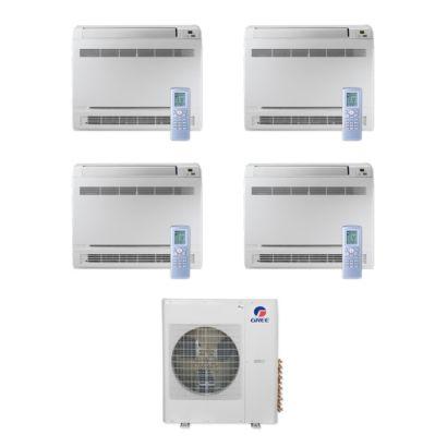 Gree MULTI36CCONS406-36,000 BTU Multi21+ Quad-Zone Floor Console Mini Split Air Conditioner Heat Pump 208-230V (12-12-12-12)