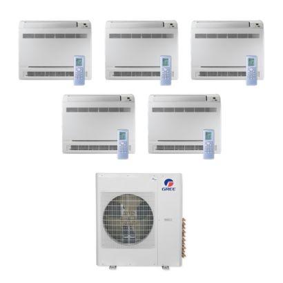 Gree MULTI36CCONS500 -36,000 BTU Multi21+ Penta-Zone Floor Console Mini Split Air Conditioner Heat Pump 208-230V (9-9-9-9-9)