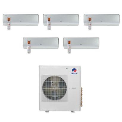 Gree MULTI36CCROWN500 -36,000 BTU Multi21+ Penta-Zone Wall Mount Mini Split Air Conditioner Heat Pump 208-230V (9-9-9-9-9)