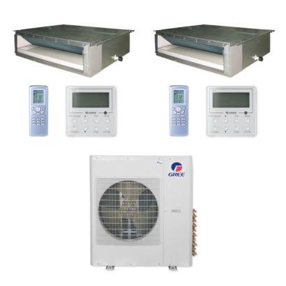 Gree MULTI36CDUCT200 - 36,000 BTU Multi21+ Dual-Zone Concealed Duct Mini Split Air Conditioner Heat Pump 208-230V (9-9)