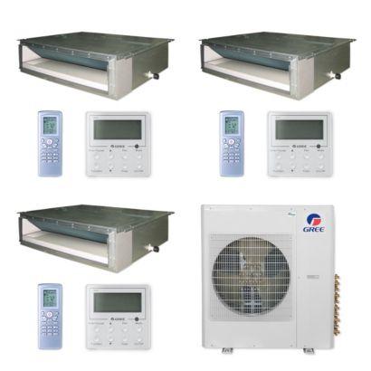 Gree MULTI36CDUCT308 - 36,000 BTU Multi21+ Tri-Zone Concealed Duct Mini Split Air Conditioner Heat Pump 208-230V (12-12-12)