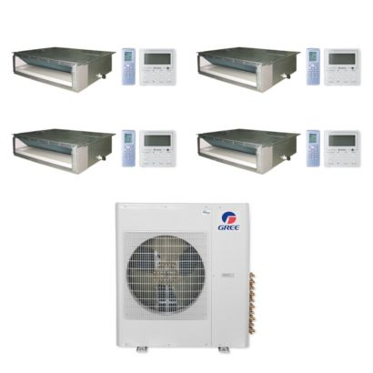 Gree MULTI36CDUCT400 - 36,000 BTU Multi21+ Quad-Zone Concealed Duct Mini Split Air Conditioner Heat Pump 208-230V (9-9-9-9)