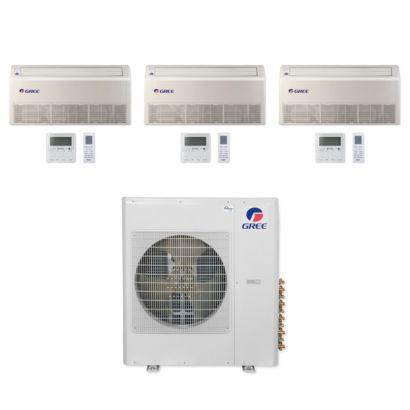 Gree MULTI36CFLR311 - 36,000 BTU Multi21+ Tri-Zone Floor/Ceiling Mini Split Air Conditioner Heat Pump 208-230V (12-18-18)