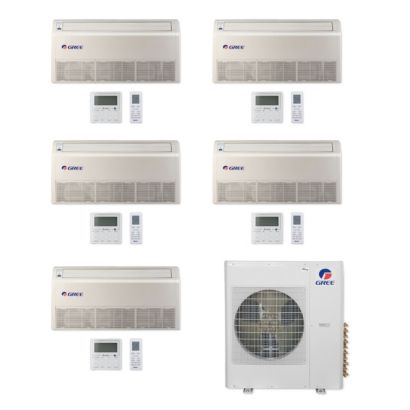 Gree MULTI36CFLR501 -36,000 BTU Multi21+ Penta-Zone Floor/Ceiling Mini Split Air Conditioner Heat Pump 208-230V (9-9-9-9-12)