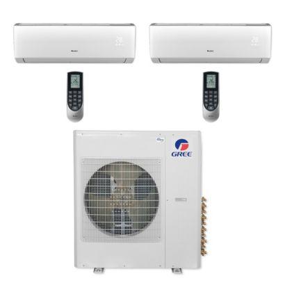 Gree MULTI36CLIV208 - 36,000 BTU Multi21+ Dual-Zone Wall Mount Mini Split Air Conditioner Heat Pump 208-230V (18-24)