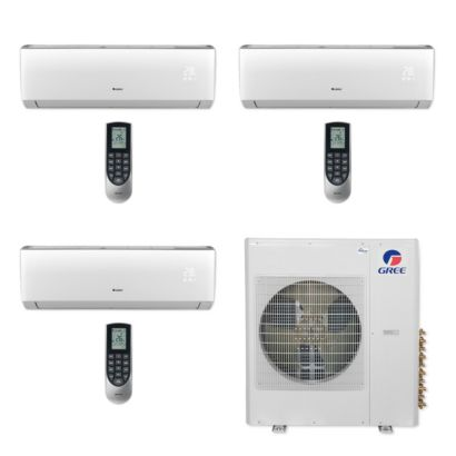 Gree MULTI36CLIV307 - 36,000 BTU Multi21+ Tri-Zone Wall Mount Mini Split Air Conditioner Heat Pump 208-230V (9-18-18)