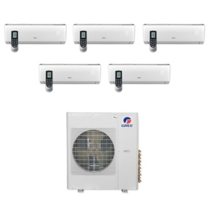 Gree MULTI36CLIV501 - 36,000 BTU Multi21+ Penta-Zone Wall Mount Mini Split Air Conditioner Heat Pump 208-230V (9-9-9-9-12)