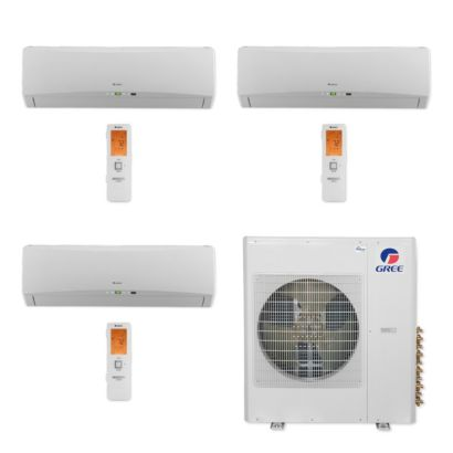 Gree MULTI36CTERRA304 - 36,000 BTU Multi21+ Tri-Zone Wall Mount Mini Split Air Conditioner Heat Pump 208-230V (9-12-12)