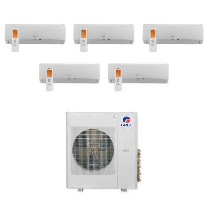 Gree MULTI36CTERRA500 -36,000 BTU Multi21+ Penta-Zone Wall Mount Mini Split Air Conditioner Heat Pump 208-230V (9-9-9-9-9)