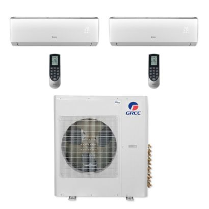 Gree MULTI36CVIR200 - 36,000 BTU Multi21+ Dual-Zone Wall Mount Mini Split Air Conditioner Heat Pump 208-230V (9-9)