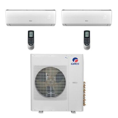 Gree MULTI36CVIR203 - 36,000 BTU Multi21+ Dual-Zone Wall Mount Mini Split Air Conditioner Heat Pump 208-230V (9-24)