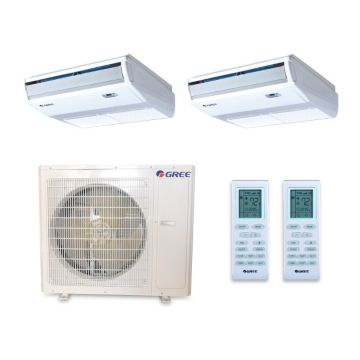 Gree MULTI36HP257 - 36,000 BTU +Multi Dual-Zone Floor/Ceiling Mini Split Air Conditioner Heat Pump 208-230V (12-24)