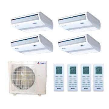 Gree MULTI36BCONS400 - 36,000 BTU +Multi Quad-Zone  Floor Console Mini Split Air Conditioner with Heat Pump 220V (9-9-9-9)