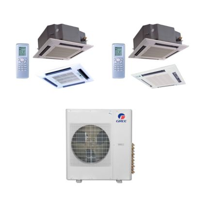Gree MULTI42BCAS206 - 42,000 BTU Multi21 Dual-Zone Ceiling Cassette Mini Split Air Conditioner Heat Pump 208-230V (12-24)