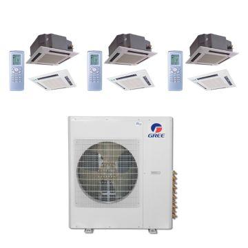 Gree MULTI42BCAS311 - 42,000 BTU Multi21 Tri-Zone Ceiling Cassette Mini Split Air Conditioner with Heat Pump 220V (12-18-18)
