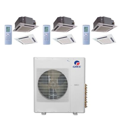 Gree MULTI42BCAS311 - 42,000 BTU Multi21 Tri-Zone Ceiling Cassette Mini Split Air Conditioner Heat Pump 208-230V (12-18-18)