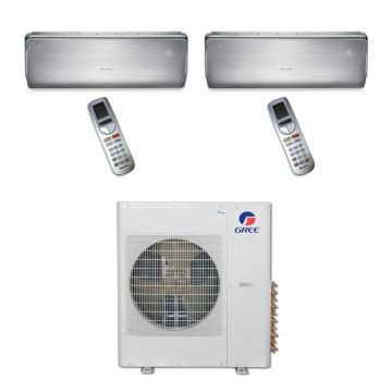 Gree MULTI42BCROWN207 - 42,000 BTU Multi21 Dual-Zone Wall Mounted Mini Split Air Conditioner with Heat Pump 220V (18-18)