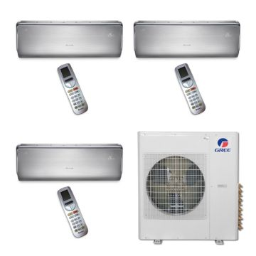 Gree MULTI42BCROWN300 - 42,000 BTU Multi21 Tri-Zone Wall Mounted Mini Split Air Conditioner with Heat Pump 220V (9-9-9)