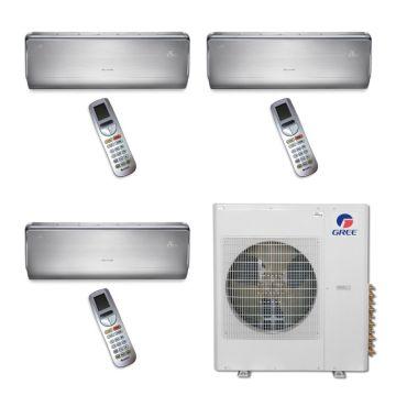 Gree MULTI42BCROWN304 - 42,000 BTU Multi21 Tri-Zone Wall Mount Mini Split Air Conditioner Heat Pump 208-230V (9-12-12)