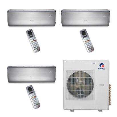 Gree MULTI42BCROWN308 - 42,000 BTU Multi21 Tri-Zone Wall Mount Mini Split Air Conditioner Heat Pump 208-230V (12-12-12)