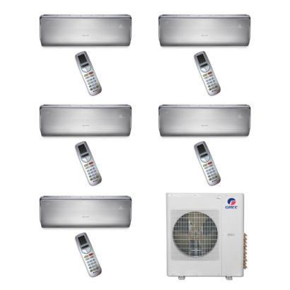 Gree MULTI42BCROWN500 -42,000 BTU Multi21 Penta-Zone Wall Mount Mini Split Air Conditioner Heat Pump 208-230V (9-9-9-9-9)