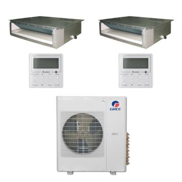 Gree MULTI42BDUCT200 - 42,000 BTU Multi21 Dual-Zone Concealed Duct Mini Split Air Conditioner Heat Pump 208-230V (9-9)