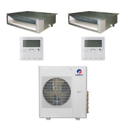 Gree MULTI42BDUCT204 - 42,000 BTU Multi21 Dual-Zone Concealed Duct Mini Split Air Conditioner Heat Pump 208-230V (12-12)