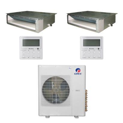 Gree MULTI42BDUCT205 - 42,000 BTU Multi21 Dual-Zone Concealed Duct Mini Split Air Conditioner Heat Pump 208-230V (12-18)