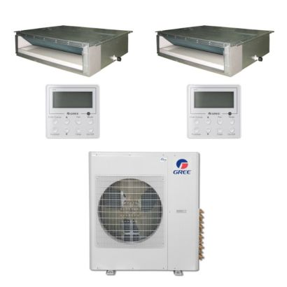 Gree MULTI42BDUCT207 - 42,000 BTU Multi21 Dual-Zone Concealed Duct Mini Split Air Conditioner Heat Pump 208-230V (18-18)