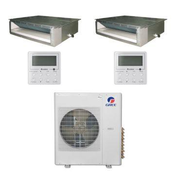 Gree MULTI42BDUCT209 - 42,000 BTU Multi21 Dual-Zone Concealed Duct Mini Split Air Conditioner Heat Pump 208-230V (24-24)