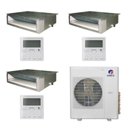 Gree MULTI42BDUCT307 - 42,000 BTU Multi21 Tri-Zone Concealed Duct Mini Split Air Conditioner Heat Pump 208-230V (9-18-18)