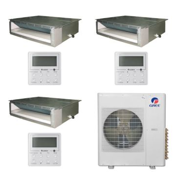 Gree MULTI42BDUCT309 - 42,000 BTU Multi21 Tri-Zone Concealed Duct Mini Split Air Conditioner Heat Pump 208-230V (12-12-18)